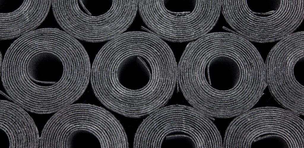 rouleaux membrane toit